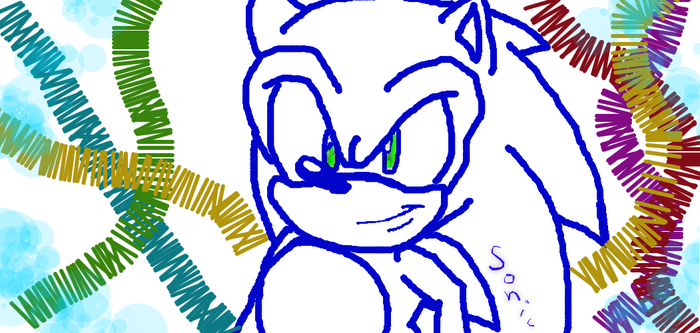 SONIC THE HEDGEHOG-DRAWING UPDATE by The-Black-Blurr