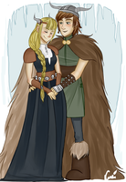 Hiccup and Astrid by Luminanza