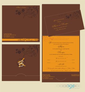 my Wedding invitation - design by bsbirdi