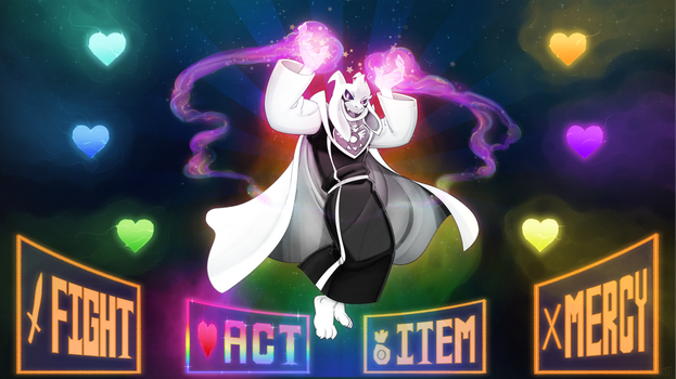 HYPERGOD ASRIEL (Wallpaper) by lapinbeau