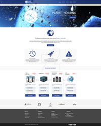 Planet hosting web design by TreaKArt