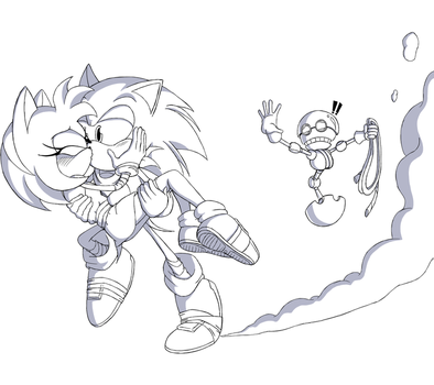 Sketch Commission 38: Booming Rescue by BoundLightning