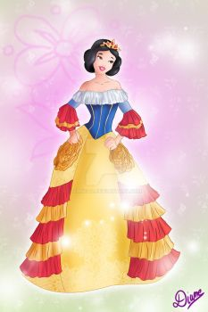 Snow White in a Victorian Style Dress by DianeAz