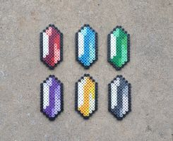 Rupees - LoZ Perler Bead Sprites by MaddogsCreations