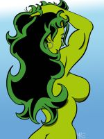 She-Hulk's Backside by MCRE1201