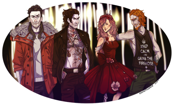 Horror movies night and crew by FrossetHjerte