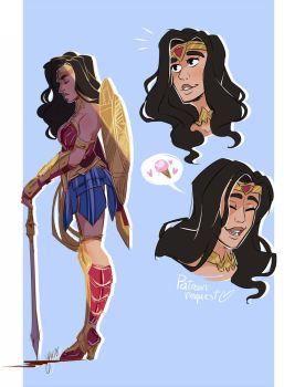 Patreon Requests 2016: Wonder Woman by YAMsgarden