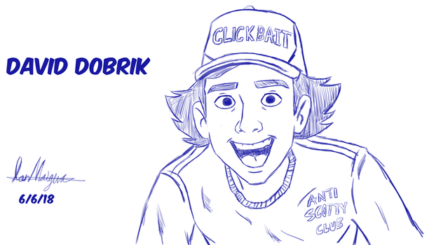 David Dobrik Cartoon Drawing by IanMaiguaPictures