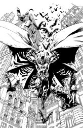 Batman Inc Cover INKS by YanickPaquette
