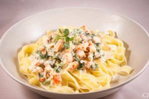 Garlic chili and crayfish pasta by CJacobssonFoto