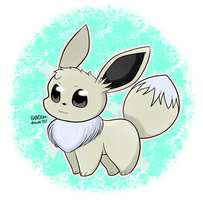 Shiny Chibi Eevee by RANDOM-drawer357