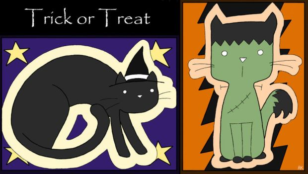 Halloween Cats by OmbroParanojo