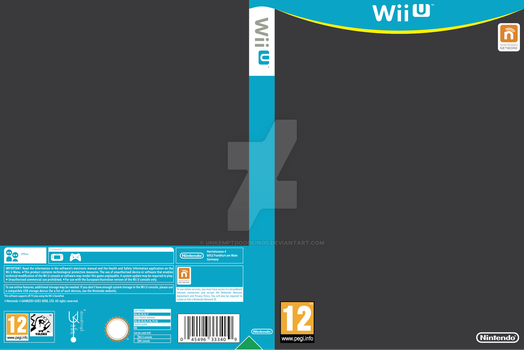 Wii U Boxart Template [v2 - UNFINISHED] by unkemptdoodlings