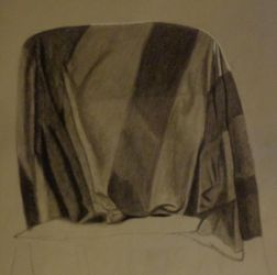 In Class Still Life 3: Draped Fabric (Unfinished) by goldenspider