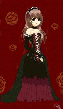 My gotic anime girl by Alice-Moonberry