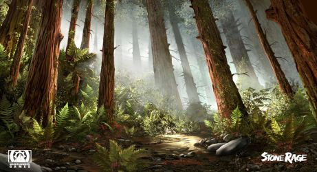 Stone Rage - Redwood Forest by FreeMind93