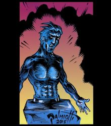 Half Man colored by PeterPalmiotti