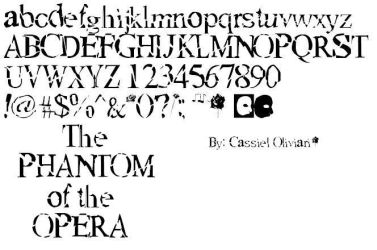 Phantom of the Opera Font by CassielOliviari