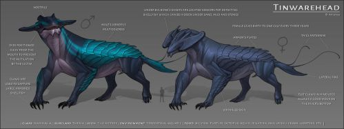 Tinwarehead [species concept] by AniutqaART