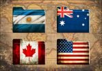 34 HD Grunge Flags Folder Icons (Windows Only) by Scottydog332