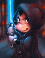 Jedi Mickey painting plus video by Mark-Clark-II