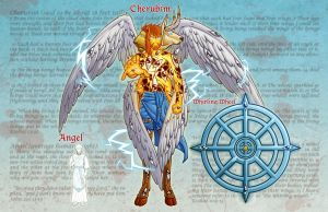 Angel Cherubim Art by Godsartist
