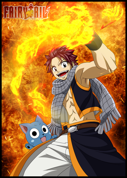 Natsu and Happy by DBZArtist94