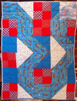 Mario's Journey quilt by FireFiriel
