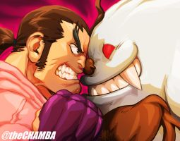 DAN vs SASQUATCH by theCHAMBA