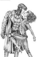 Rogue and Gambit by crystalmax