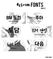 korean fonts part 2 by odd-eyxd