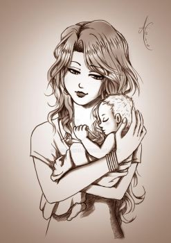 Digital Paint: Mother's Love by nairarun15