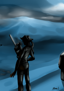 silhouette of a professional assassin by happychild47