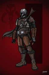 Mandalorian colored by stourangeau