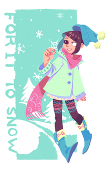 For it to snow by rainberry