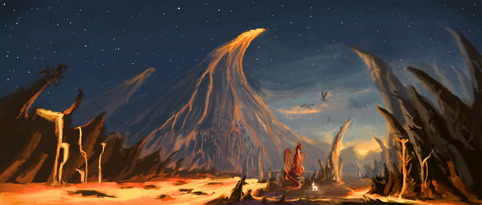 Dragonfang mountains by Plainoasis