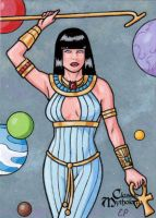Ma'at Sketch Card - Classic Mythology by ElainePerna