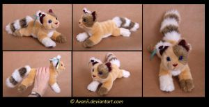 Plushie Commission: Dragonblaze the Cat by Avanii