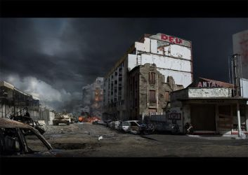 Matte painting 'This is war' by wolffoss