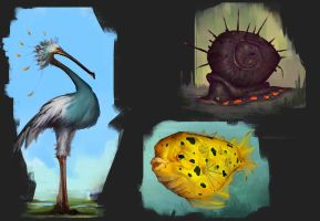 Exo planet animals #1 by Coffeeater