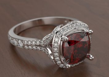Ruby engagement ring by smasher511