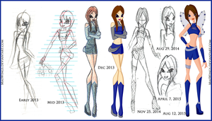 Atara's Winx Progress by MaeWings