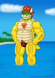 Bowser Day 2017 - A hot hairy koopa for a hot day by VJMorales