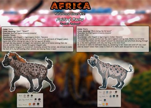 Reference Sheet - Faida and Badru by ARVEN92