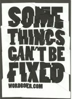 Some Things Can't Be Fixed by WRDBNR