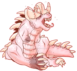 Pip the Albino Deathclaw by pistachioZombie