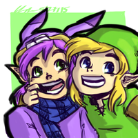 Ravio And Link by chyneseBBQ