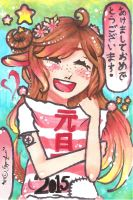 ~copic marker test run~HAPPY NEW YEAR PPLS!~ by Serpenfire