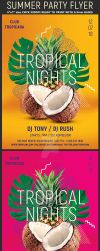 Tropical Summer Party Flyer Template by Hotpindesigns