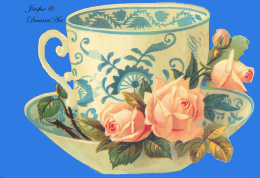 Victorian teacup clipart by jinifur